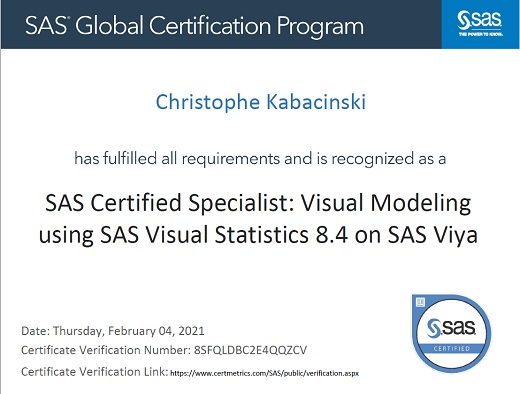 Visual Modeling using SAS Visual Statistics 8.4 on SAS Viya